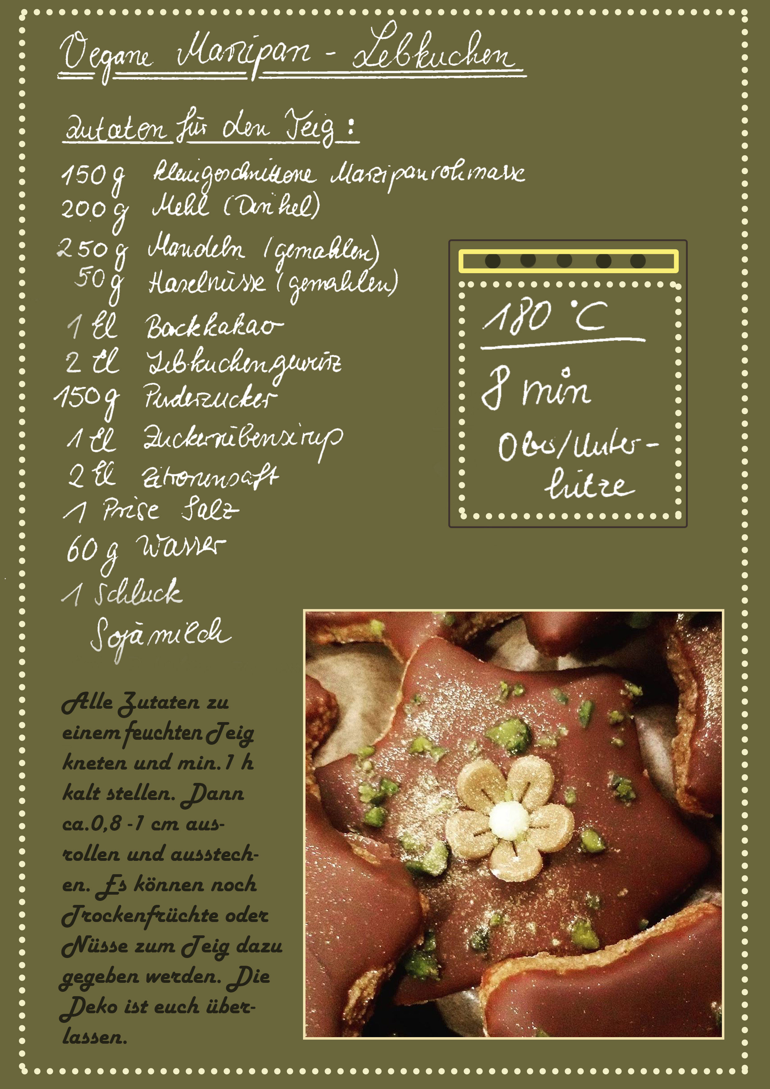 Vegane Marzipan-Lebkuchen